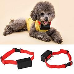 お買い得  犬用首輪/リード/ハーネス-犬 樹皮の首輪 アンチ犬叫 バイブレーション 電子/エレクトリック ソリッド ナイロン レッド