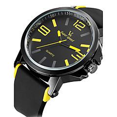 billige Herre Ure-V6 Herre Sportsur Militærur Kjoleur Modeur Armbåndsur Quartz Japansk Quartz Vandafvisende Silikone Bånd Vintage Sej Afslappet Sort