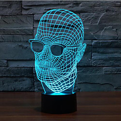 お買い得  LED アイデアライト-1枚 クリスマスライト 装飾ライト ナイトライト 自動タイプ 調光可能 防水 変色 LED コンテンポラリー