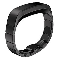 Черный / Роуз / Золотистый / Серебристый Нержавеющая сталь Спортивный ремешок Для Fitbit Смотреть 10mm