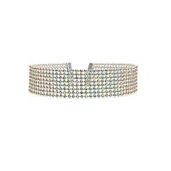 preiswerte Halsketten-Damen Mehrschichtig Halsketten - Strass Europäisch, Modisch, Mehrlagig Weiß, Regenbogen Modische Halsketten Schmuck Für Hochzeit, Party, Alltag