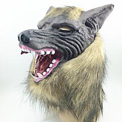 ماسك الهالويين ماسك التخفي ألعاب رأس الذئب مطاط موضوع الرعب 1 قطع Halloween حفلة تنكرية هدية