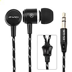 billige Høretelefoner (ørepropper, In-Ear)-AWEI Q35 I øret Ledning Hovedtelefoner Aluminum Alloy Sport & Fitness øretelefon Med Mikrofon Headset