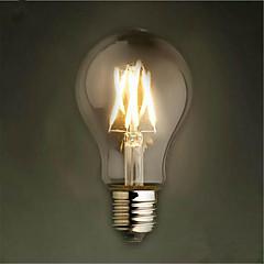 1 pcs 8 w e26 / e27 led ampoules à filament a19 8 leds cob décoratif dimmable blanc chaud 650-750lm 2300-2800 k ac 220-240 v