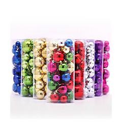 billiga Heminredning-36st / lot flerfärgade jul boll 3 4 5 6 8 cm blandat plast gåva boll hängande xmas party prydnad jultreegarnering