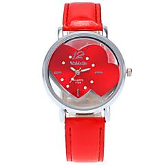 preiswerte Damenuhren-Damen Quartz Armbanduhr / Armbanduhren für den Alltag PU Band Heart Shape Freizeit Modisch Cool Schwarz Weiß Blau Rot Rosa