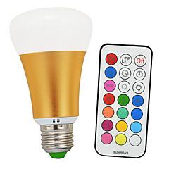 E26/E27 LED Kugelbirnen A60(A19) 1 COB 900lm-1200lm lm Kühles Weiß RGB RGB multicolor+ Daylight White 6500K K Infrarot-Sensor Abblendbar