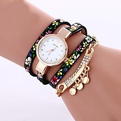 Femme Montre Tendance Montre Bracelet Bracelet de Montre Quartz Coloré Punk Polyuréthane Banderétro Etincelant Bohème Charme Bracelet