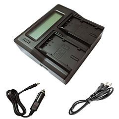 ismartdigi lcd d28s double chargeur avec câble de charge de voiture pour panasonic MD10000 DS25 batterys de caméra DS27 MX3 MX500 de GS15