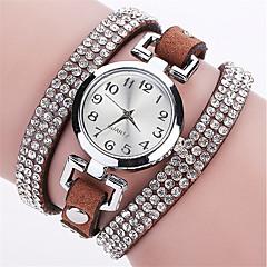 お買い得  大特価腕時計-女性用 リストウォッチ 模造ダイヤモンド / パンク / クール PU バンド チャーム / 光沢タイプ / ヴィンテージ ブラック / ブルー / シルバー