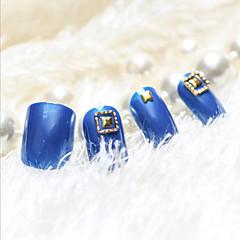 유럽과 미국의 바람 사각형 금속 손톱 손톱 가짜 손톱의 핫 스타일의 24 개