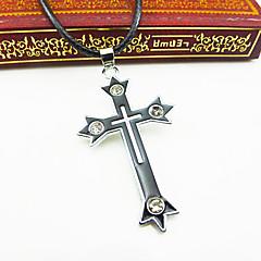 Недорогие Ожерелья-Муж. Крест Кожа Ожерелья с подвесками  -  Euramerican европейский Религиозные Белый / синий Ожерелье Назначение Для вечеринок Повседневные