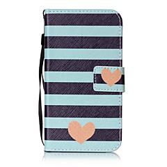 Недорогие Чехлы и кейсы для LG-Кейс для Назначение LG K8 LG LG K10 LG K7 Бумажник для карт Кошелек Флип С узором Чехол С сердцем Твердый Кожа PU для LG X Screen LG X
