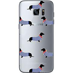 tanie Galaxy S6 Etui / Pokrowce-Kılıf Na Samsung Galaxy S7 edge S7 Wzór Czarne etui Pies Miękkie TPU na S7 edge S7 S6 edge plus S6 edge S6