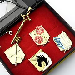 Insignă / Mai multe accesorii Inspirat de Atac pe Titan Eren Jager Anime Accesorii Cosplay Colier / Insignă Auriu Aliaj