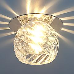Lâmpada de Teto Branco Quente Branco Frio Cristal LED Estilo Mini Lâmpada Incluída 1 pç