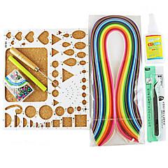 halpa Lasten puuhasetit-400pcs Quilling paperi DIY veneet taide koriste pakki / 7pcs asettaa