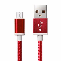 USB 2.0 / Mini USB Braided Cable For Samsung / Huawei / Sony / Nokia / HTC / Motorola / LG / Lenovo / Xiaomi 150 cm Nylon
