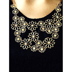 Női Nyilatkozat nyakláncok Flower Shape Ötvözet Állítható Fesztivál/ünnepek jelmez ékszerek Ékszerek Kompatibilitás Parti Napi