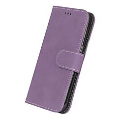 abordables Galaxy S3 Mini Carcasas / Fundas-Funda Para Samsung Galaxy S7 edge S7 Soporte de Coche Cartera Flip Funda de Cuerpo Entero Color sólido Dura Cuero de PU para S7 edge S7