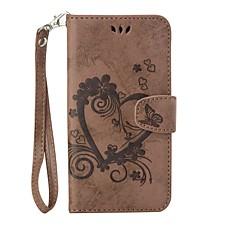 billige Etuier til Xiaomi-Til xiaomi redmi note 3 fuld body hjerte præget læder tegnebog