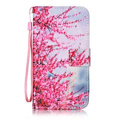 Недорогие Чехлы и кейсы для LG-Кейс для Назначение LG K8 LG LG K10 LG K7 Бумажник для карт Кошелек Флип С узором Чехол Цветы Твердый Кожа PU для LG X Screen LG X Power