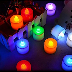 cheap LED Bulbs-LED Candle Lights T 1 Dip LED 300 lm Blue Yellow Green Pink Red K Decorative AC 85-265 V