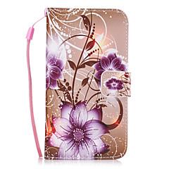 olcso Galaxy S4 Mini tokok-Case Kompatibilitás Samsung Galaxy S8 Plus S8 Kártyatartó Pénztárca Állvánnyal Fekete tok Virág Kemény PU bőr mert S8 Plus S8 S7 edge S7