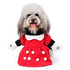Kissat Koirat Asut Takit Hupparit Haalarit Koiran vaatteet Talvi Luonteet Söpö Muoti Cosplay Pidä Lämmin Halloween Joulu Punainen