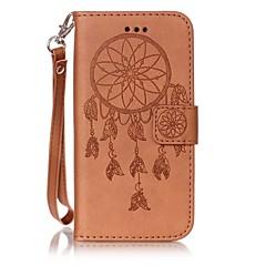 Назначение Кейс для iPhone 7 Кейс для iPhone 6 Кейс для iPhone 5 Чехлы панели Бумажник для карт Флип Рельефный Чехол Кейс для Ловец снов