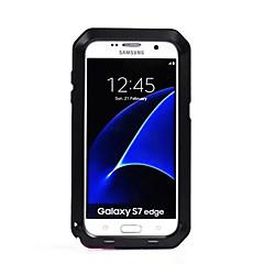 voordelige Galaxy S6 Edge Hoesjes / covers-hoesje Voor Samsung Galaxy S7 edge S7 Water / Dirt / Shock Proof Volledige behuizing Effen Kleur Hard Metaal voor S7 edge S7 S6 edge plus