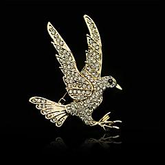 hesapli -Erkek Kadın Broşlar Yapay Elmas Moda Altın Mücevher Düğün Parti Günlük