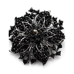 Kadın Broşlar Kristal Lüks Sentetik Taşlar Yapay Elmas Mücevher Uyumluluk Düğün Günlük