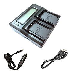 ismartdigi lpe10 lcd double chargeur avec câble de charge de voiture pour Canon EOS 1100D batterys de caméra t3 baiser x50 1200d