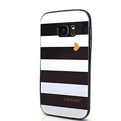 Case Kompatibilitás Samsung Galaxy S7 edge S7 IMD Minta Hátlap Vonalak / hullámok Puha PC mert S7 edge S7 S6 edge plus S6 edge S6 S5 S4 S3