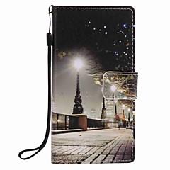 Χαμηλού Κόστους Θήκες / Καλύμματα για Huawei-Για huawei p9 lite p8 lite πόλη σκηνή ζωγραφική pu τηλέφωνο περίπτωση