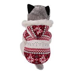 abordables Accesorios Mascota-Perro Abrigos Saco y Capucha Ropa para Perro Copo Marrón Rojo Algodón Disfraz Para mascotas Hombre Mujer Reversible Mantiene abrigado