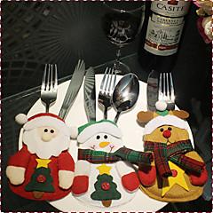 1cover3pcs) 3different Χριστούγεννα στυλ στολίδι νεότευκτη έχουν ένα εορταστικό κλίμα των Χριστουγέννων μαχαίρια και πιρούνια κάλυμμα