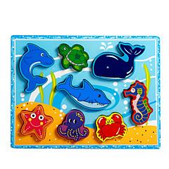 Jucării Educaționale Puzzle Jucarii Dolphin Pești Caracatiță Crocodil Noutate Băieți Fete 8 Bucăți