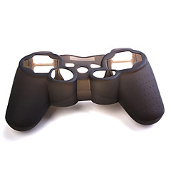 economico Accessori PS3-Custodia in silicone per controller PS3 - Nero