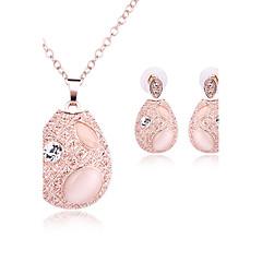 Γυναικεία Σετ Κοσμημάτων Συνθετικό Opal Βασικό Στρας Οπάλιο Κράμα Oval Shape 1 Κολιέ 1 Ζευγάρι σκουλαρίκια Για Γάμου Πάρτι Ειδική