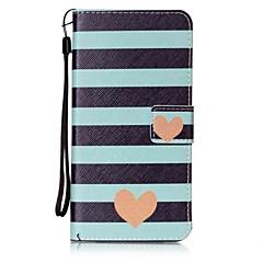 Для Кошелек / Бумажник для карт / со стендом / Флип Кейс для Задняя крышка Кейс для С сердцем Твердый Искусственная кожа для AppleiPhone