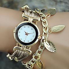 Dames Modieus horloge Polshorloge Armbandhorloge Kwarts Kleurrijk PU BandVintage Bladeren Bohémien Bedeltjes Bangle armband Cool