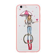 Для Кольца-держатели / Полупрозрачный / С узором Кейс для Задняя крышка Кейс для Соблазнительная девушка Мягкий TPU для AppleiPhone 7