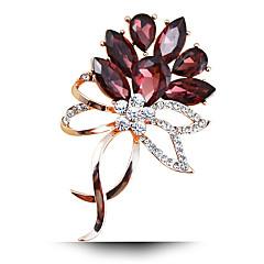 moda damska stop / Rhinestone / Kryształ broszki kwiatowe pin stron / dobę / biżuteria ślubna luksusowe 1szt
