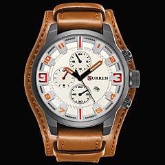preiswerte Herrenuhren-CURREN Armbanduhr Sender Wasserdicht, Kalender, Cool Schwarz / Rot / Schwarz / Weiß / Braun / # / Zwei jahr / Edelstahl / Japanisch / Japanisch