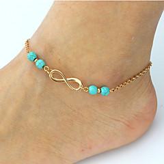 kobieta koronki srebrne zapięcie homara ze stopu splayed anklet