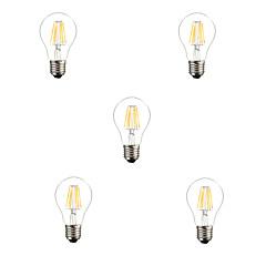 5pcs 6W E26/E27 LED Filament Bulbs A60(A19) 6 High Power LED 560LM Warm White Cold White Decorative AC220-240V