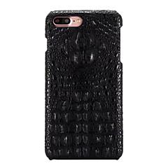 Для С узором Кейс для Задняя крышка Кейс для Один цвет Твердый Натуральная кожа для AppleiPhone 7 Plus / iPhone 7 / iPhone 6s Plus/6 Plus