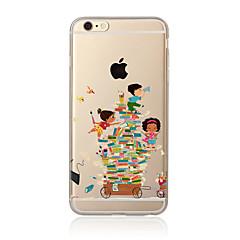 Недорогие Кейсы для iPhone 4s / 4-Кейс для Назначение Apple iPhone X iPhone 8 Plus Кейс для iPhone 5 iPhone 6 iPhone 7 Прозрачный С узором Кейс на заднюю панель